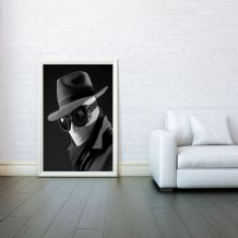 Invisible Man, Movie Art , Prints & Posters,Wall Art Print, Poster Any Size - Black and White Poster